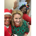 Group selfie of Three staff members in Holiday outfits